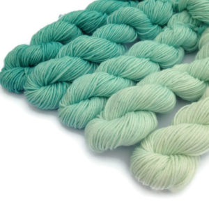 April Showers Superwash Merino Mini Skein Set