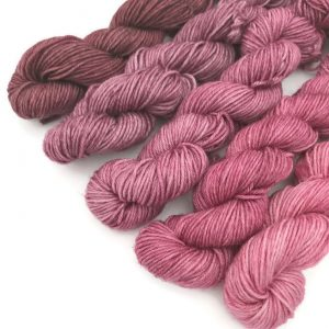 Wine And Roses Superwash Mini Skein Sock Set