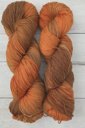 Pumpkin Spice Superwash Merino Sock Yarn