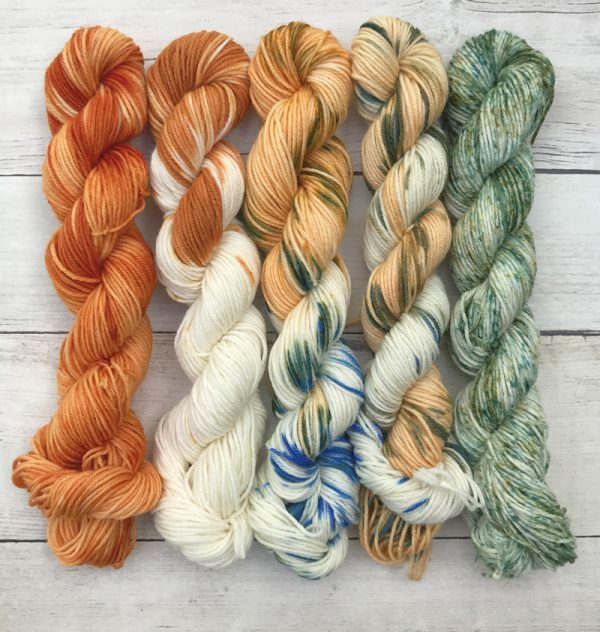 Create Your Custom Triple Mini Skein SetPumpkin Patch Washable Mini Skein Set