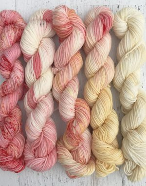 White Cherries Superwash Mini Skein Set